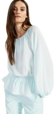 Alfani Smocked-Waist Peplum-Hem Top, Created for Macy's