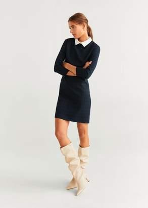 MANGO Check short dress