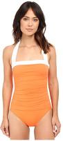 Lauren Ralph Lauren Bel Aire Solids Shirred Bandeau Mio Slimming Fit w/ Soft Cup