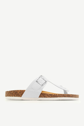 Ardene Cork Midsole T-Strap Sandals