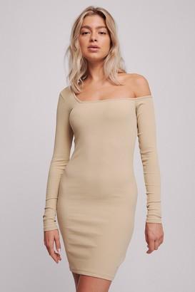 Selma Omari X NA-KD Ribbed One Shoulder Dress
