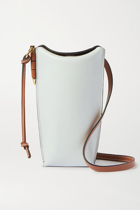 Loewe Gate Color-block Leather Shoulder Bag - Mint