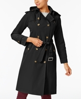 London Fog Petite Waterproof Trench Coat