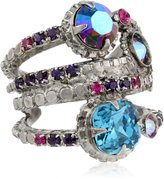 "Sorrelli Volcano"" Stacked Crystal Ring"