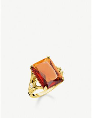 Thomas Sabo Magic Stones Star 18ct yellow gold-plated cocktail ring