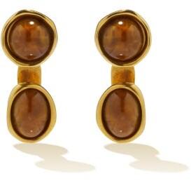 Loewe Double Tree Drop Earrings - Brown Gold