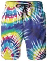 Trippy Tie Dye Mandala Men Summer Beach Boardshorts