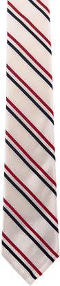 Thom Browne Classic Tricolor Stripe Necktie in Red & White & Blue | FWRD