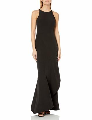 Keepsake Women's No Control Sleeveless Cascading Long Gown Dress