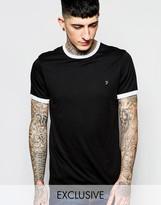 Farah T-Shirt with Contrast Trim Slim Fit Exclusive