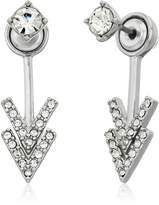 Rebecca Minkoff Stud Double V Front Back Earring Jackets