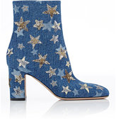 Valentino Women's Embellished Ankle Boots-NAVY