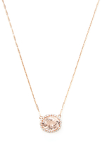 Rina Limor Fine Jewelry 18K Rose Gold, Morganite & 0.34 Total Ct. Diamond Pendant Necklace