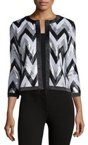 Michael Simon Zigzag-Sequined Jacket