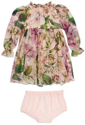 Dolce & Gabbana Kids Floral Chiffon Dress and Bloomers (3-30 Months)