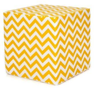 Zoomie Kids Bullington Decorative Cube Kids Ottoman Upholstery: Yellow