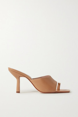PORTE & PAIRE Leather Mules - Sand