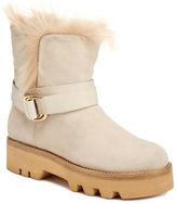 Rachel Zoe Voz Rabbit Fur Trimmed Kid Suede Ankle Boots