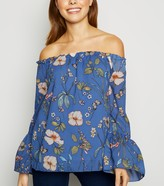 New Look Mela Floral Bardot Top