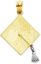 Macy's 14k Gold and 14k White Gold Charm, Graduation Cap Charm