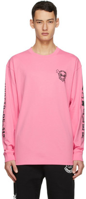 MONCLER GENIUS 2 Moncler 1952 Pink UNDEFEATED Edition Logo Long Sleeve T-Shirt