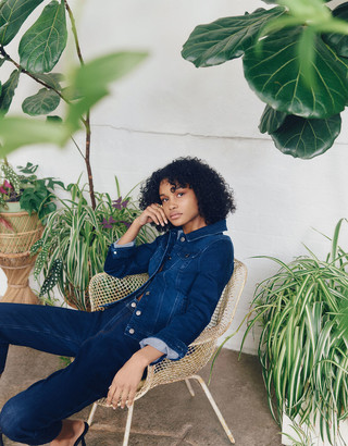 Monsoon Idabella Crop Jeans with Organic Cotton Blue