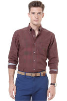 Nautica Shirt, Long Sleeve Red Tartan Shirt