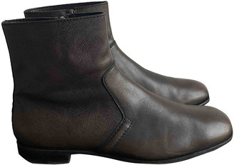 Prada Green Leather Boots