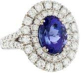 Ring 18K Tanzanite & Diamond Halo