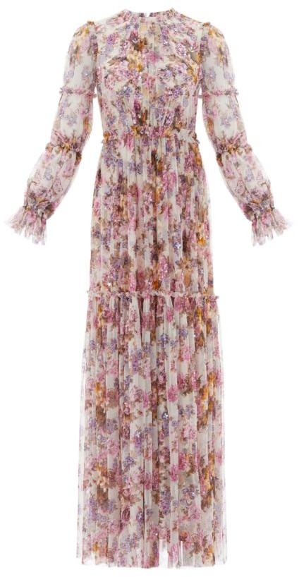 Needle & Thread Harmony Floral Chiffon Gown