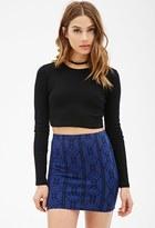 Forever 21 FOREVER 21+ Geo Striped Mini Skirt