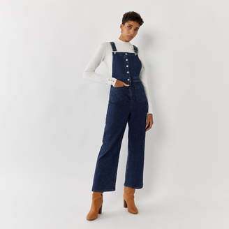 Warehouse WIDE LEG DENIM DUNGAREES