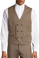 Haight And Ashbury Relaxed-Fit Double-Breasted Herringbone Wool Vest