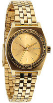 Nixon Small Time Teller Watch - Women's All Gold/Crystal One Size