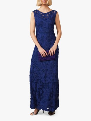 Phase Eight Gia Floral Embroidered Maxi Dress, Cobalt