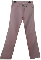 Valentino Pink Cotton Trousers