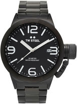 TW Steel Canteen Bracelet Mens Black Stainless Steel Link Watch