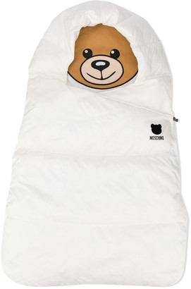 MOSCHINO BAMBINO Teddy logo cotton sleeping bag