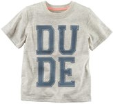 "Carter's Boys 4-8 Dude"" Embroidered Tee"