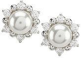 Nadri Pearl & Cubic Zirconia Stud Earrings