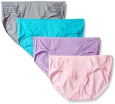 Fruit of the Loom Women's 4 Pack Coolblend Hipster Panties