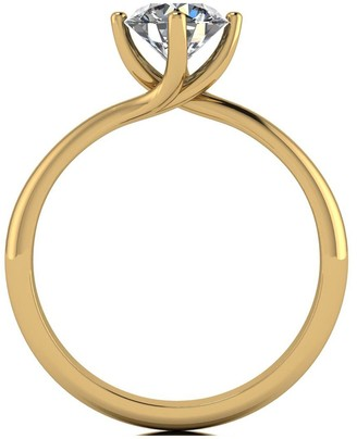 Moissanite 9ct Yellow Gold 1ct Equivalent Solitaire Twist Ring