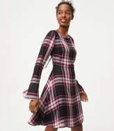 LOFT Plaid Tie Back Dress