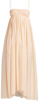 Chloé Empire Waist Silk Maxi Dress