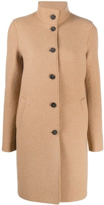 Harris Wharf London Single-Breasted Mid-Length Coat