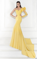 Tarik Ediz Single Long Sleeve Evening Gown 92619