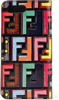 Fendi Embossed Printed Leather Iphone 7 Plus Case - Black