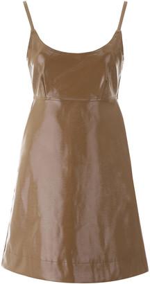 Ganni Faux Leather Mini Dress