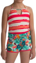 Big Chill Swimsuit and Swim Short Set (For Little Girls)