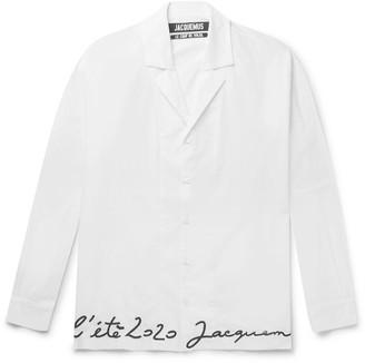 Jacquemus Coup De Soleil Camp-Collar Embroidered Cotton Shirt